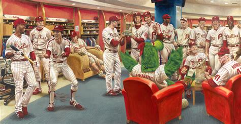 The Phillies Room How To Make A Baseball Card Painting Sports Card Info