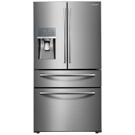 stainless steel door refrigerator shop samsung food showcase 27 8 cu ft 4 door door
