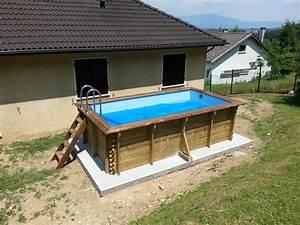 piscine hors sol bois rectangulaire pas cher uteyo With piscine hors sol rectangulaire pas cher