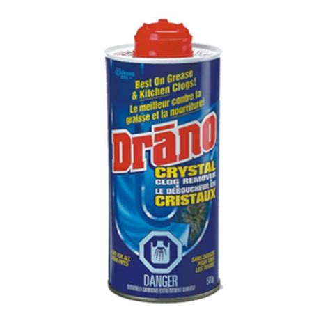Unclogging A Kitchen Sink Drain by Drano Drain 500 G Rona