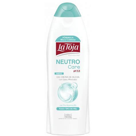 gel crema de ducha neutro care ph  la toja precio