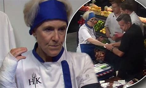 hells kitchen knives hell 39 s kitchen debra lawrance slices on a knife wstale