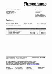 Rechnung Fußzeile : kleinunternehmer rechnung rechnungsvorlagen f r kleinunternehmer ~ Themetempest.com Abrechnung