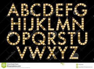 digital alphabet marquee style scrapbooking element stock With marquee alphabet letters