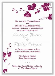 wedding invitations orchid wedding invitation at mintedcom With free printable orchid wedding invitations