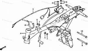 Honda Motorcycle 1979 Oem Parts Diagram For Frame