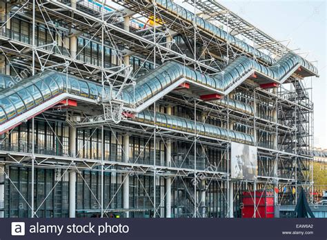 centre pompidou museum of modern facade of centre georges pompidou modern museum stock photo royalty free image