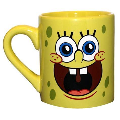 SpongeBob SquarePants Face 14 oz. Mug   Silver Buffalo   SpongeBob SquarePants   Mugs at
