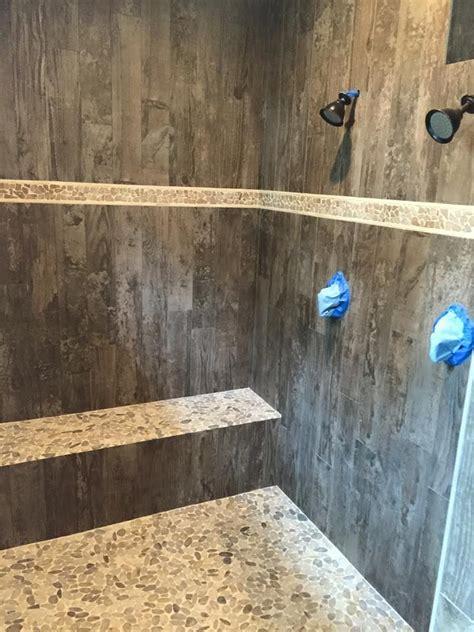 love  shower  tile    wood
