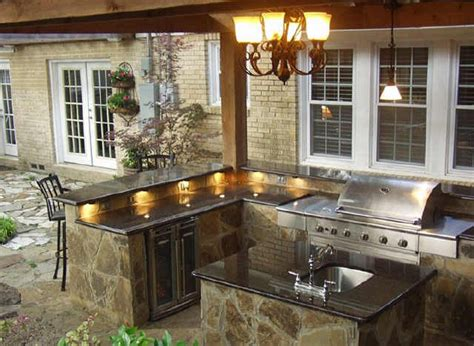 Kitchen Bar Grill by Counter Lighting Outdoor Kitchen Patio Kitchen