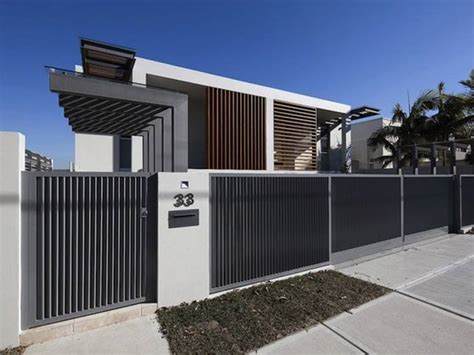 black  white minimalist fence  home ideas