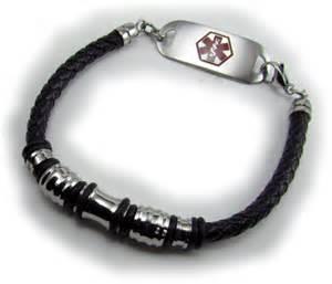 Medical Alert ID Bracelets Men