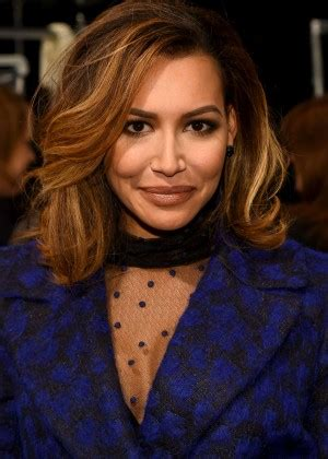 naya rivera monique lhuillier fall  fashion show