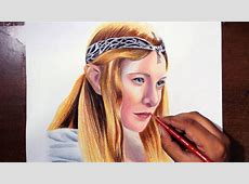 Drawing Galadriel Cate Blanchett from Lord of the Rings