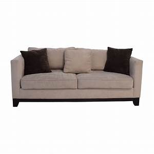 60 off bauhaus bauhaus beige microsuede couch with toss With bauhaus sofa bed