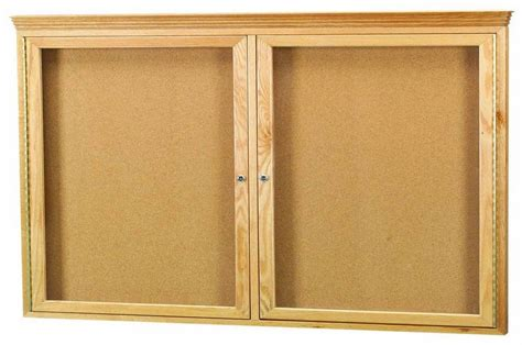 oak cabinet crown molding beechridgecs com oak frame 2 door enclosed bulletin board cabinet w crown