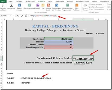ppedv team blog excel tipp zinsen berechnen