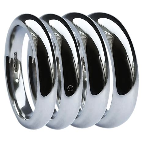 ct white gold wedding rings heavy court comfort mm mm