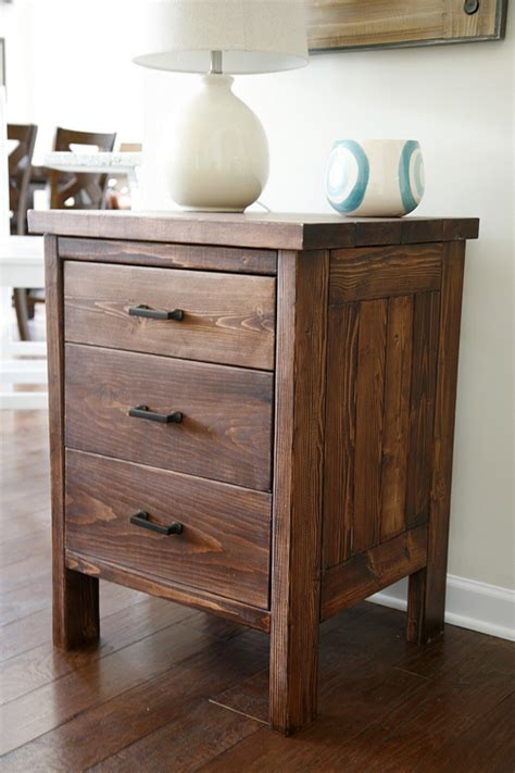 Nightstand Plans Free by White Chest Of Drawers From 2 By 4s Diy Projects