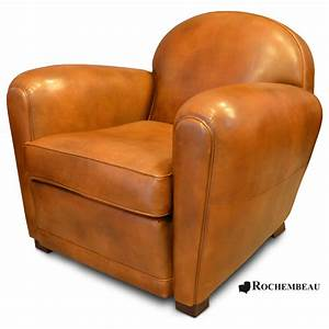 Fauteuil club en cuir taille moyenne for Fauteuil cuir club