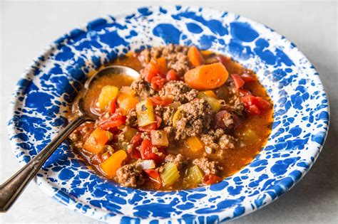 simple recipes with hamburger quick and easy hamburger soup simplyrecipes com