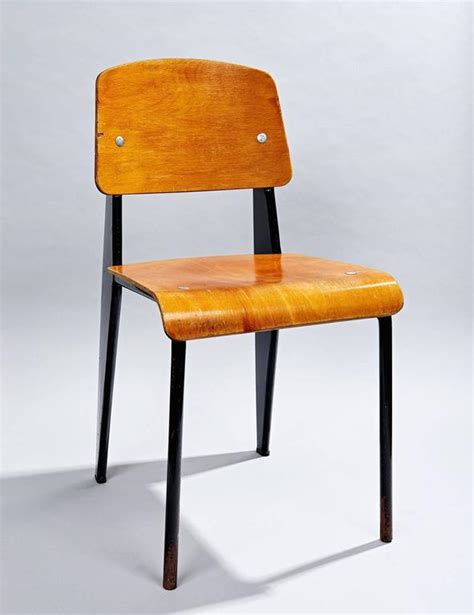 chaise jean prouvé quot chaise standard quot by jean prouvé at 1stdibs