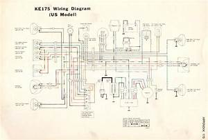 Kawasaki Ke175 Service Manual  U0026 Wiring Diagram