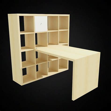 ikea expedit desk 3d ikea expedit bookcase and desk high quality 3d models
