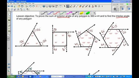 sum  exterior angles   polygon part  youtube