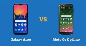 Samsung Galaxy A10e Vs Motorola Moto G7 Optimo  Specs