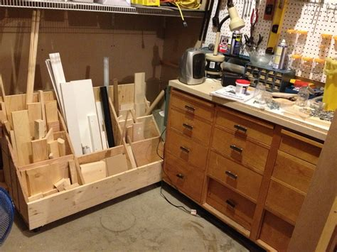 mobile lumber storage cart woodworking projects plans
