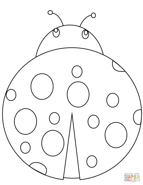 cartoon ladybug coloring page  printable coloring pages