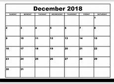 December 2018 Calendar December Calendar 2018, December