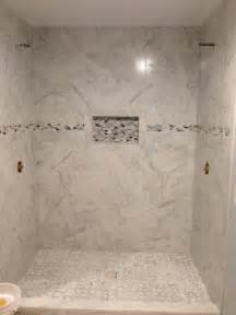 lowes bathroom tile ideas my shower is almost finished porcelain quot marble quot tile shower floor from lowes and border