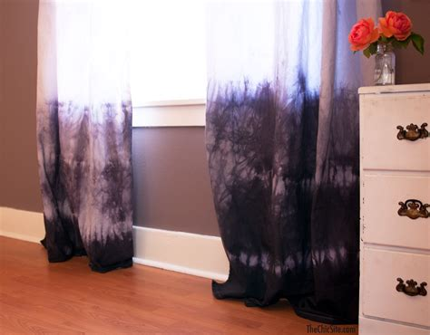 Dying Drapes - diy dip dyed curtains the chic site
