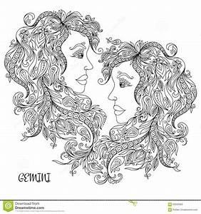 gemini astrology coloring gemini astrology