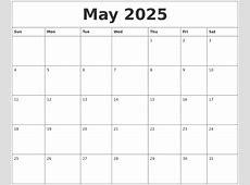 May 2025 Make A Calendar Free