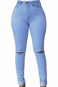 Light Wash Ripped Skinny Jeans | Charming Wear