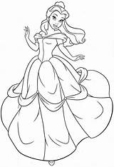 Princess Coloring Belle Pages sketch template