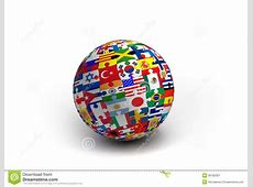 A World Flag Puzzle Ball Stock Image Image 30182301