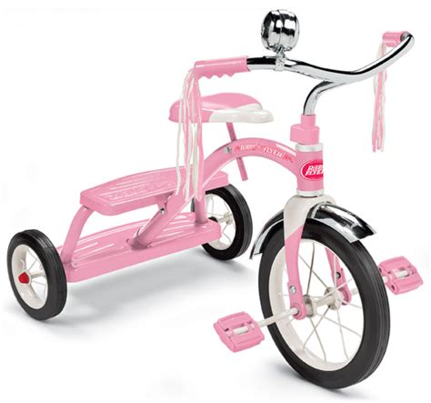 radio flyer classic tricycle  dressed  pink