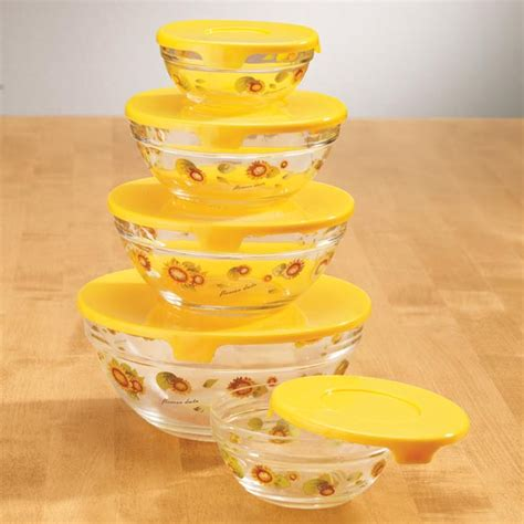 glass bowls with lids glass sunflower serving bowls with lids storage bowls 3764