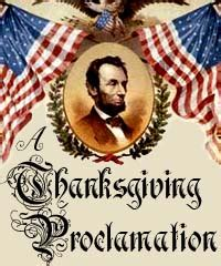a thanksgiving proclamation studentsoul