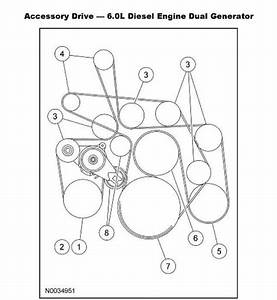 2003-2007 Ford F-250 6 0l Power Stroke V8 Serpentine Belt Diagram