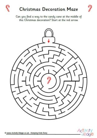 christmas decoration maze