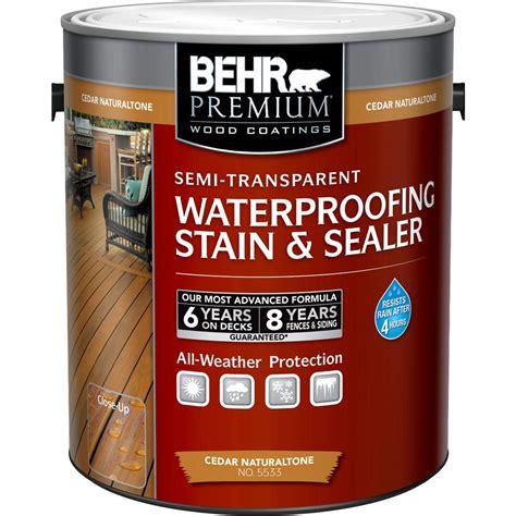Lasting Deck Stain Sealer by Behr Premium 1 Gal Cedar Naturaltone Semi Transparent