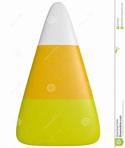 3d Render Of A Piece Of Candy Corn Stock Images - Image ...