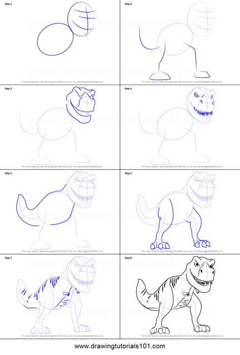 draw tiny   rex  meet  robinsons