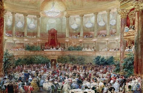 eugene louis lami dinner in the salle des spectacles at versailles painting dinner in the