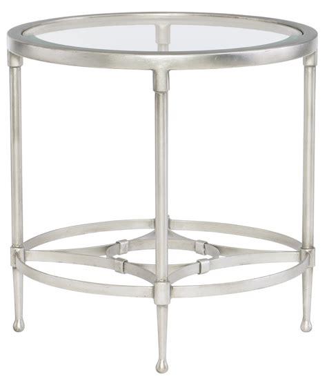 round metal end table round metal end table with glass top bernhardt